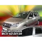 Ветровики для DACIA LOGAN MCV II 5D 2013R.->(+OT) - вставные - Heko