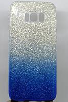Силиконовая накладка Gliter Ambre Samsung A730 (A8 Plus 2018) (Blue)