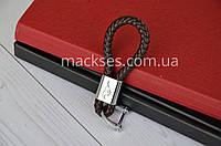 Брелок кожаный на ключи авто Mackses с логотипом Mustang Коричневый
