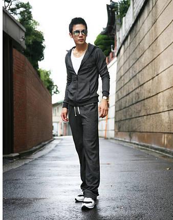 Мужской спортивный костюм серого цвета, фото 2