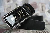 Мужской ремень Lacoste кожаный с пряжкой автомат