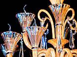Стеклянная классическая недорогая люстра 8805/8, фото 3