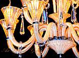 Стеклянная классическая недорогая люстра 8805/8, фото 4