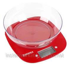Весы кухонные с чашей Grunhelm KES-1PR (красные)