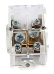 Клеммная колодка магистральная (проходимая) e.tc.main.brass.35k, 1х35 мм.кв./4х6 мм.кв.,латунный контакт, с крышкой