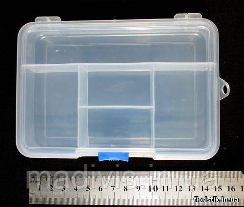 Органайзер для бисера 5 отдел. (14,5 х 10 х 3,5 см.)