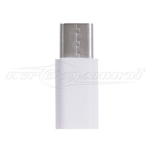 Переходник micro USB 2.0 Female to USB Type-C, белый
