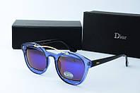 Солнцезащитные очки круглые Dior фиолетовые, фото 1