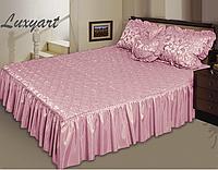 Покрывало Гламур 180х210 с подушками 45х65, розовый