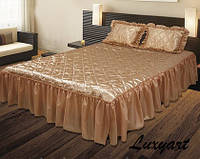 Покрывало Гламур 180х210 с подушками 45х65, коричневый