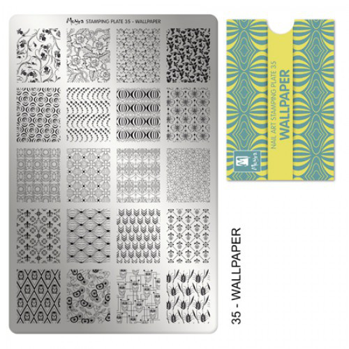 Пластина для стемпинга №35 Wallpaper / Обои