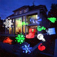 """Уличный лазерный проектор """"Новогодние фигуры"""""""