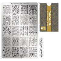 Пластина для стемпинга №40 Art Nouveau / Искусство модерн