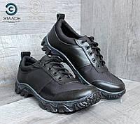 Кроссовки тактические кожаные ARS-1 черные