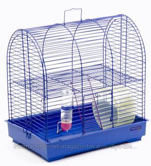 Клетка хром «Рокки с колесом» для мелких декоративных грызунов, Природа™