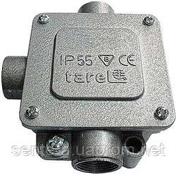 Коробка монтажная  металлическая Р13,5/3, IP 55, 400 B, 5*4