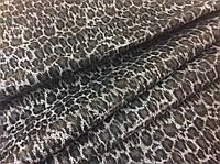 Натуральная кожа с покрытием леопард черно-белый, фото 1