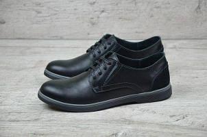 Стильные мужские кожаные туфли Polo Ralph Lauren черного цвета (630чер) БЕСПЛАТНАЯ ДОСТАВКА !!!
