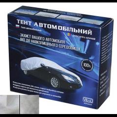 Тент автомобильный CC11105   S/Polyester/серый/406х165х119