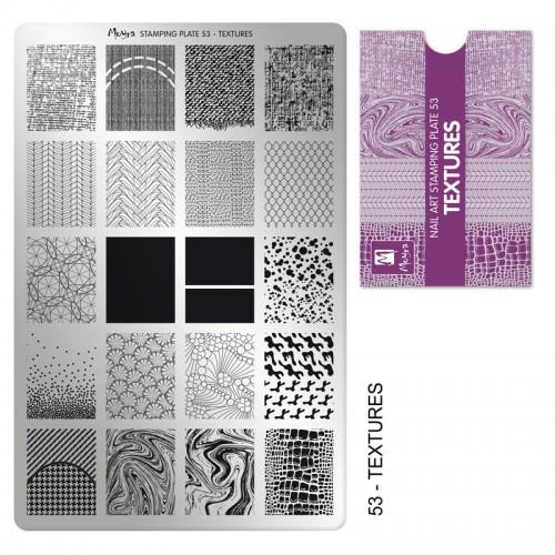 Пластина для стемпинга №53 Textures / Текстура
