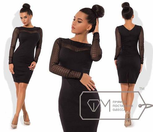 Приталенное платье с гипюром, фото 2