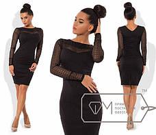 Приталенное платье с гипюром