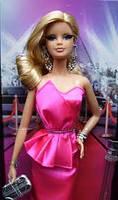 "Коллекционная кукла Барби серии ""Высокая мода"" (Barbie The Look: Pink Gown Barbie Doll) BCP86 Mattel , фото 2"