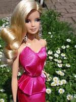 "Коллекционная кукла Барби серии ""Высокая мода"" (Barbie The Look: Pink Gown Barbie Doll) BCP86 Mattel , фото 3"