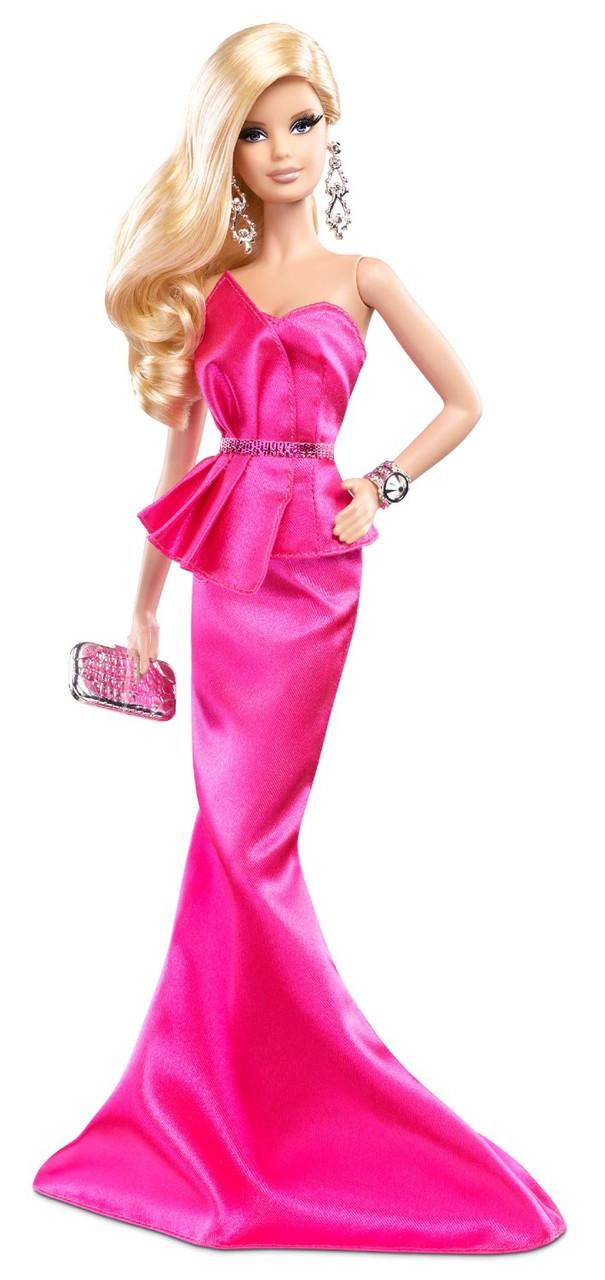 "Коллекционная кукла Барби серии ""Высокая мода"" (Barbie The Look: Pink Gown Barbie Doll) BCP86 Mattel"