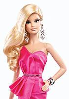 "Коллекционная кукла Барби серии ""Высокая мода"" (Barbie The Look: Pink Gown Barbie Doll) BCP86 Mattel , фото 5"
