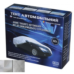 Тент автомобильный,тент для машины CC11105 M, Polyester, серый, 432х165х120 (F 170T/F 14062 M)