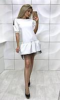 Женское красивое платье с фатином, 2 цвета