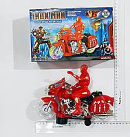 Интерактивный герой IRON MAN (Железный человек)  на мотоцикле. Свет,звук.