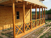 Веранда деревянная открытая.