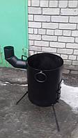 Печь сварная  под казан азиатский на   17 л. с выходом под дымоход, фото 1