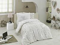 Комплект постельного белья  Hobby поплин размер полуторный Love серый
