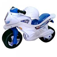 Детский Мотоцикл каталка 2-х колесный с сигналом белый Орион 501в.4