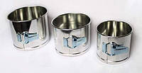 Набор форм для выпечки пасхи разъемная, формы для кулича 3 шт, метал