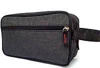 Косметичка мужская несессер прямоугольной формы с карманом, фото 1