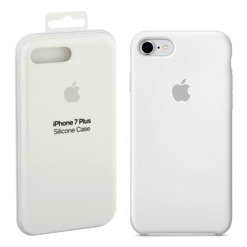 Чехол Apple Silicone Case White для iPhone 7/8 Plus ( MMQT2ZM/A )