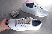 Кеды женские белые Adidas кожаные
