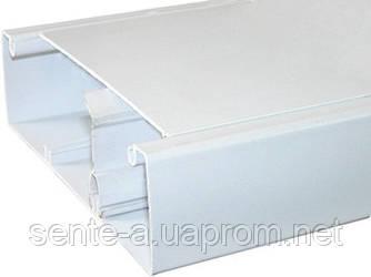 Короб пластиковый c перегородкой e.trunking.clapb.01.stand.50.25, 50х25мм, 2м