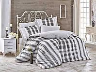 Комплект постельного белья  Hobby поплин размер полуторный Debora серый