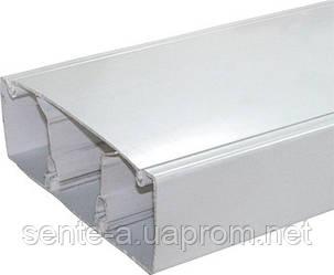 Короб пластиковый c перегородкой e.trunking.twoclapb.02.stand.100.50, 100х50мм, 2м