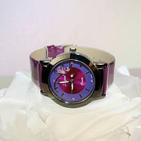 "Кварцевые часы ""Алмаз"", фиолетовые"