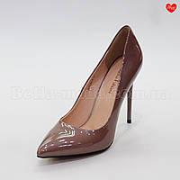 Женские лаковые туфли тонкий каблук Sasha Fabiani