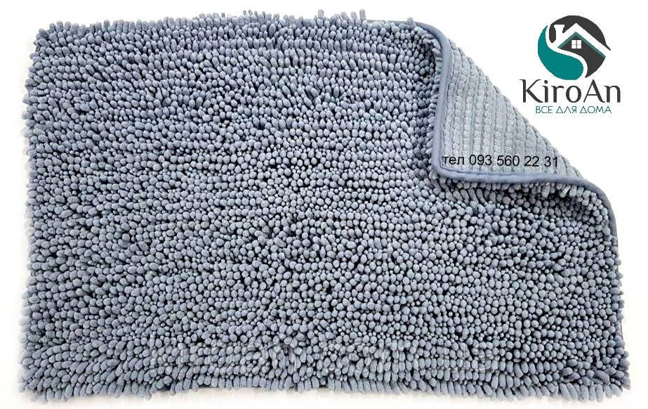 Коврик в ванную комнату Лапша (Сине-серый) 50х80 см