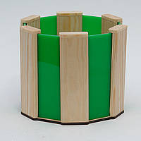 Кашпо из дерева для цветов с цветными вставками в подарочной коробке WoodMood