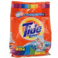 Порошок стиральный автомат Tide 1500г Lenor Color автомат