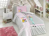 Комплект постельного белья  Hobby поплин размер полуторный Street Fashion серый